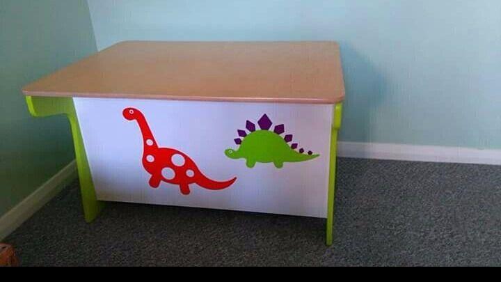Dinosaur Toy Box Desk