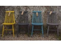 set of four Ercol Style Chairs