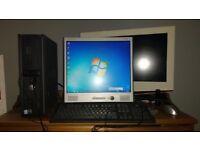 Dell pc, pentium D 3Ghz, 2gb ram, 160gb hdd, 17inch monitor, windows 7