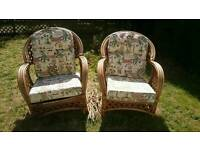 Free bamboo armchairs (1 damaged)