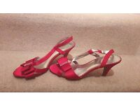M&S Red Small Heels - Size 7