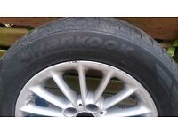tyre with wheel 225/55 R16