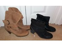 Ladies Clarks Boots - Size 6 & 6.5 - Hardly Worn Like New