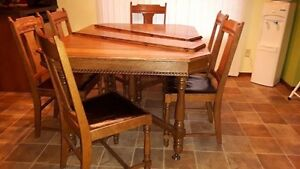 Antique dining set with side board and China cabinet