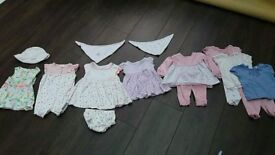 Baby Girl Newborn, 0-3 and 3-6 months Assorted 6 Dresses Outfits Clothes Boots Mini Club Boutique