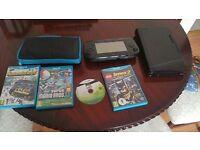 Wii U Black, 4 games.