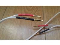 QED pair speakers wires 2x3meter ;