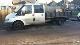 2003 ford transit crew cab tipper long mot drives fine spares or repaires