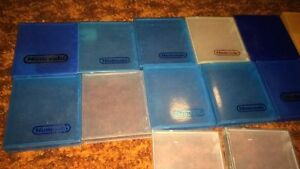 plastic NES clear clamshell cases - most nintendo brand