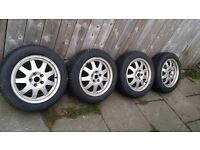 Winter;;;;;;;;;;; Aluminium Wheels With Tires 205x55x 16 Jaguar Or Ford.
