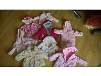 Baby girl coats excellent condition
