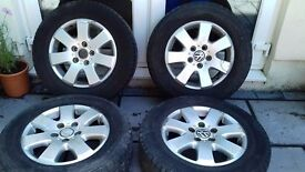 16 Inch VW Alloy Wheels and Tyres