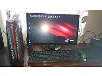 Asus desktop and monitor
