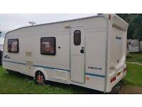 Bailey Ranger 550/6 2004 6 Birth Caravan with Motor Mover and Remote