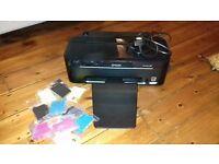 Epson colour printer (inkjet) and 11 cartridges