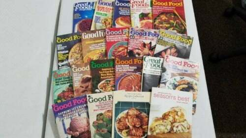 "20 Vintage Recipe Cook Books ""Good Food"" Cookbooks Recipes Collection Lot"