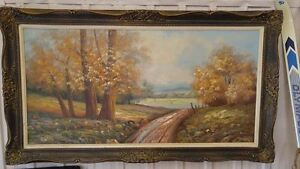 Framed Oil Painting Signed By David Kitchener / Waterloo Kitchener Area image 1