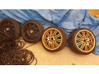 Bmw alloys 17 Set of 4 alloys with 3 tyres