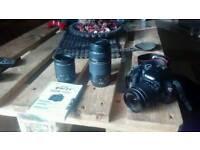 Canon dslr 1100d with 3 lenses