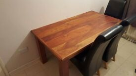 Solid wood (MANGO Hard wood) dining table with or without chairs.