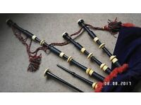 P Henderson full REAL mounted Bagpipes
