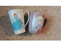 Frozen and Cinderella Disney mugs