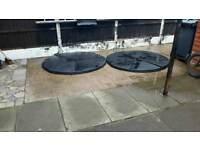 two Round plastic patio