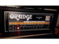 Orange Dual Dark 100 tube guitar amplifier head, as new condition.