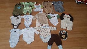 Small Box of 0-3 Month Size Baby Clothes - $30 for all