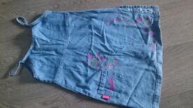 denim dress and skirt age 6-7