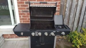BBQ with burner, $75 works well comes with free propane tank