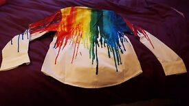 Mens very colourful long sleeved shirt size S/M