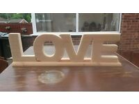 personalized real wood hand made shelf or free standing on wood plinth