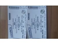 James (the band) tickets x2