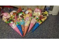 SWEET CONES AND CUPS FOR BIRTHDAYS AND OTHER OCCASIONS
