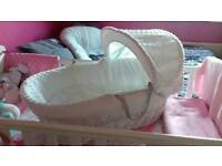 White Moses Basket