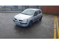 2004 RENAULT CLIO 1.2 MOT TILL JULY 2017 STARTS AND DRIVES WELL £399 ONO