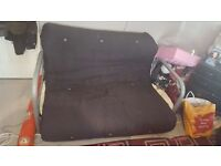 FOR SALE BLACK DOUBLE SOFA BED