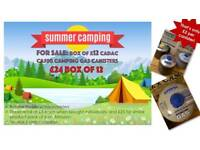 12 x Cadac CA500 camping gas canisters. Less than half price