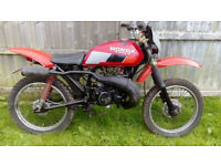 honda cg125 with dt125 engine conversion, road legal 125 2 stoke