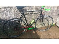 FULL SIZ REYNODLS FIXED GEAR BIKE NICE TO RIDE AND LIGHT.SWAP OFFER.OR CASH .OFFER