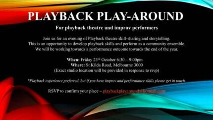 Playback Play-Around - For playback theatre and improv performers Fitzroy Yarra Area Preview
