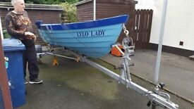 17ft boat on galvinised trailor new tyres and 8hp mariner engine just serviced