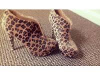 Gorgeous Leopard Shoe Boots Size 6 Brand New