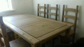 6seat solid dining table