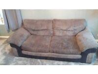 2 x 3 seater sofa.