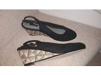 Ladies Black Wedges from NEXT - Size 7