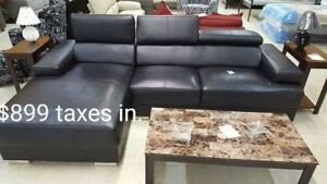 BRAND NEW (floor model) 2 PIECE SECTIONAL SOFA! TAXES INCLUDED