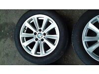 bmw 5 series 2011 alloys with tyres **£250**