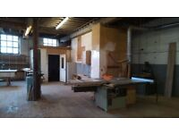 Fully equipped joiners / carpenters workshop unit to rent / let in Oldham